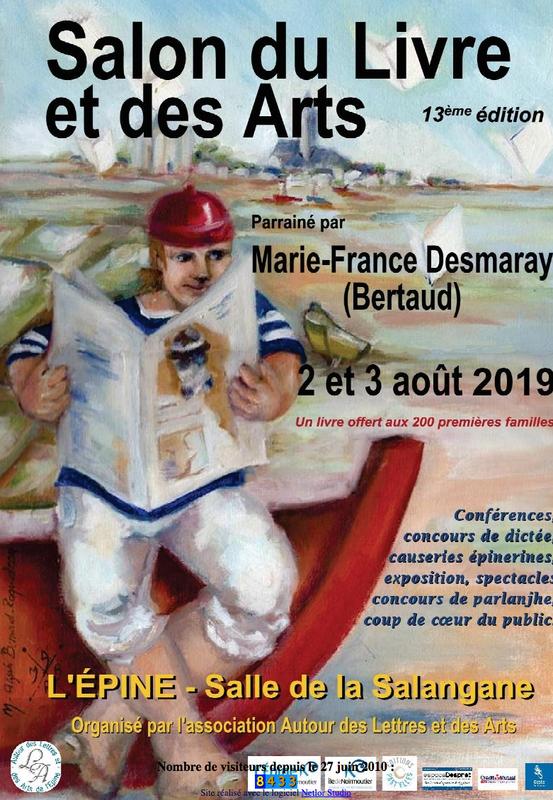 Noirmoutier: 13ème édition du Salon du Livre et des Arts de l'Epine les 2 et 3 août