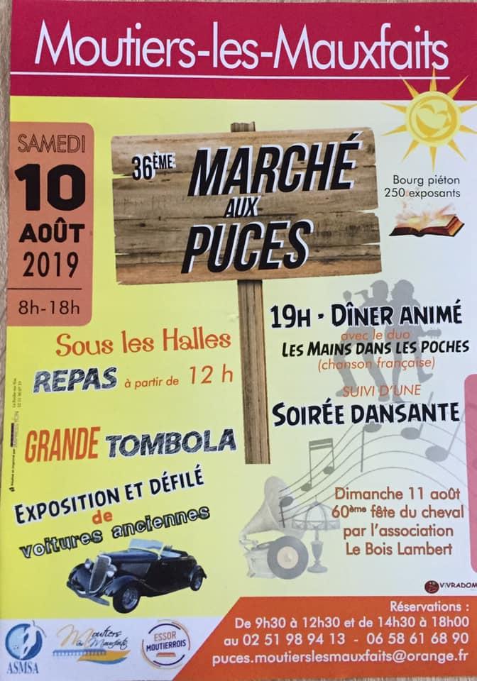 Moutiers Mauxfaits : marché aux puces ce samedi de 8h00 à 18h00