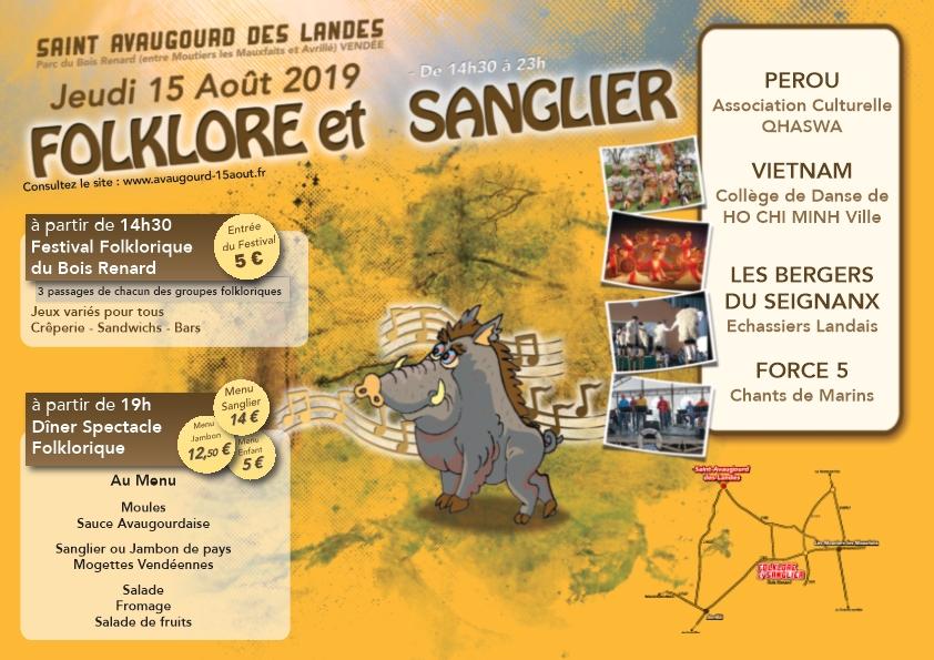 Saint-Avaugour-des- Landes : festival du Folklore et du Sanglier jeudi 15 août à partir de 14h30