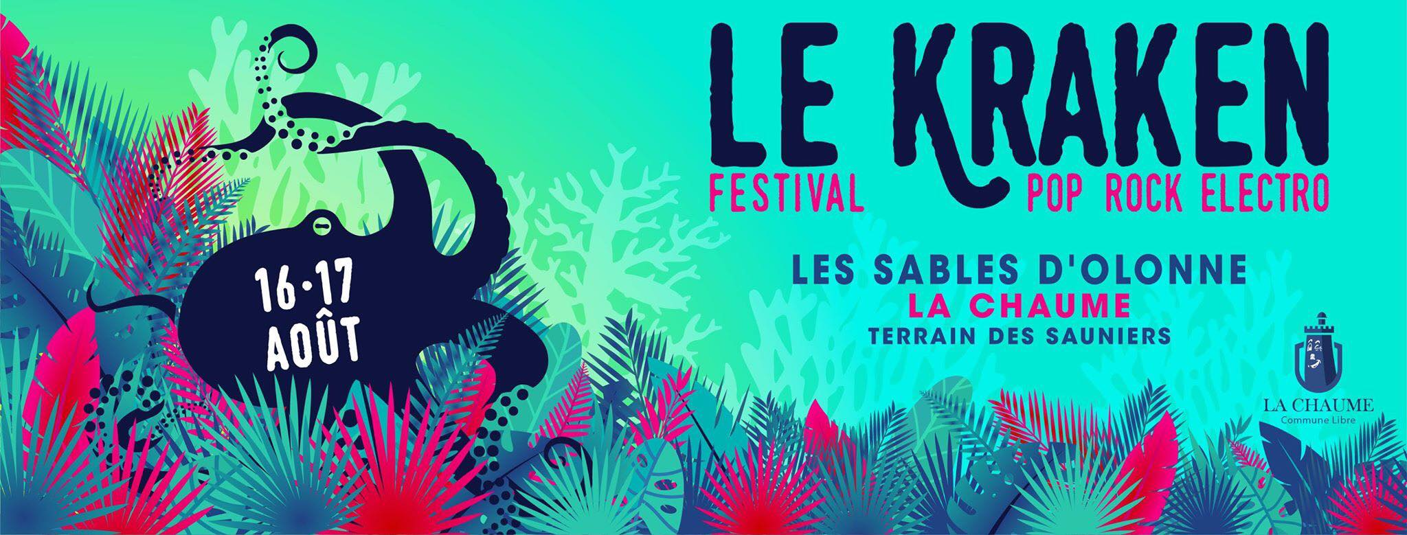 Le festival le Kraken à partir du vendredi 16 août  avec Hyphen Hyphen, Elephanz, Hilight Tribe...