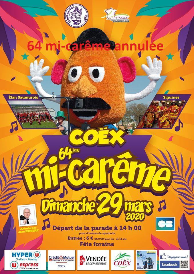 La Mi-carême de Coex est annulée