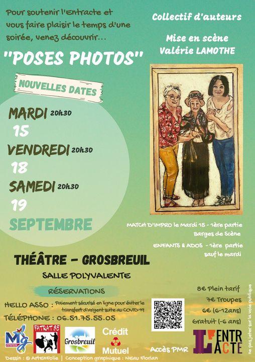 Grosbreuil : l'Entracte sur scène les 15, 18 et 19  septembre