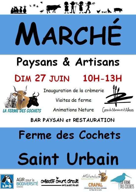 Saint Urbain : marché paysan le dimanche 27 juin de 10h00 à 13h00