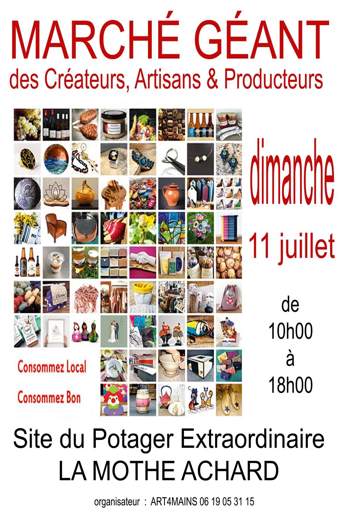 La Mothe-Achard : Marché géant  dimanche 11 juillet de 10h00 à 18h00