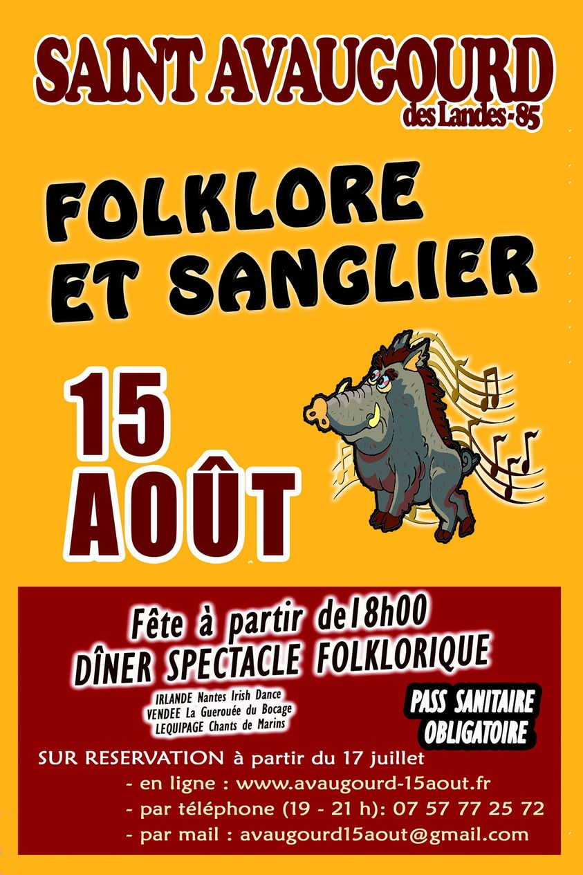 Saint-Avaugour des Landes : fête du sanglier le diamanche 15 août à partir de 18h00