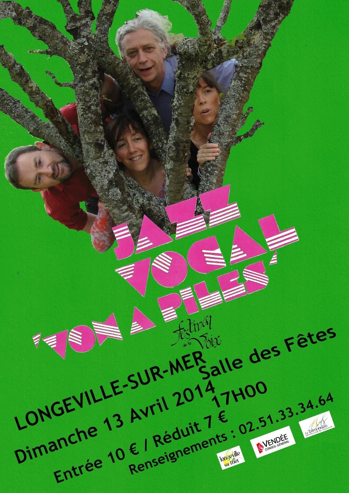 """""""Les Voies de la Voix"""" en concert à Longeville-sur-Mer ce dimanche 13 avril à 17h00"""