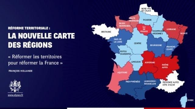Hollande veut 14 grandes régions au lieu de 22
