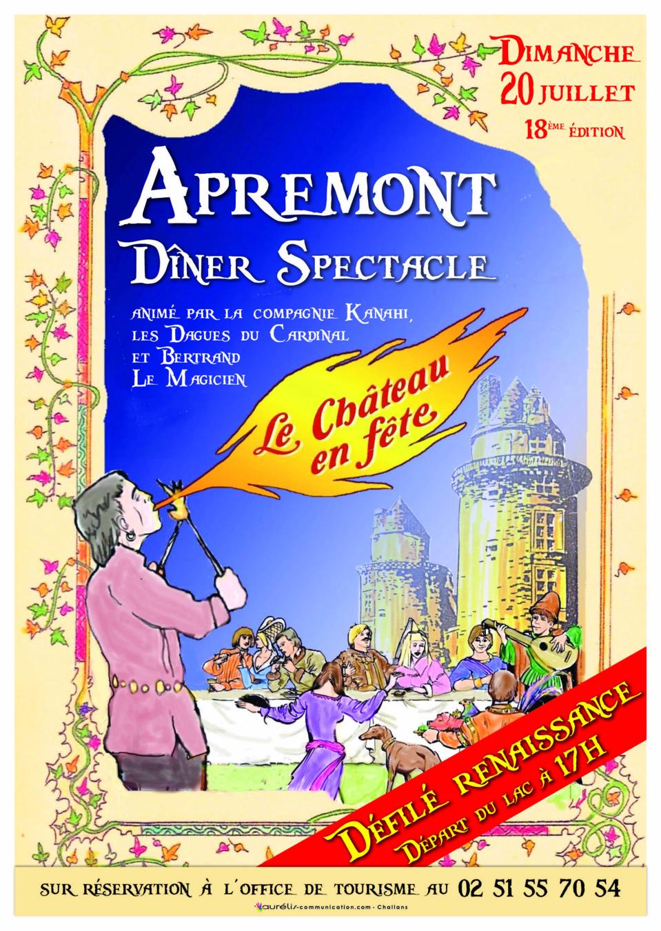 Le Chateau en Fête à Apremont le dimanche 20 juillet