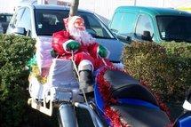 Des motards en Père Noël arriveront à Talmont  le samedi 13 décembre