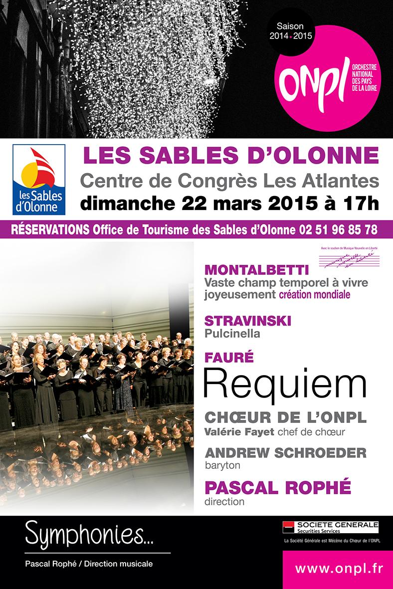 Concert de l'Orchestre National des Pays de la Loire le dimanche 22 mars