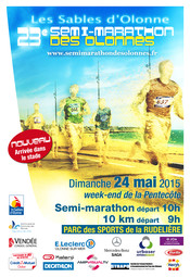 Semi-marathon des Olonnes dimanche 24 mai à 10h00