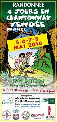Randonnée 4 Jours en Chantonnay, du 5 au 8 mai 2016.