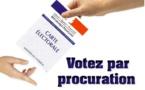 Rappel élection : les procurations