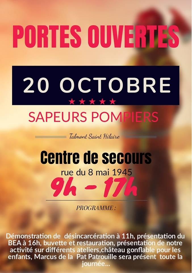 Les pompiers ouvrent leurs portes ce samedi 20 octobre