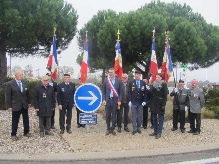 Hommage aux combattants d'AFN: un rond-point inauguré