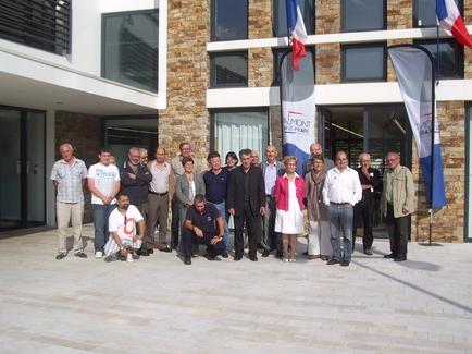 Transgascogne :la délégation espagnole de Ribadéo reçue en mairie