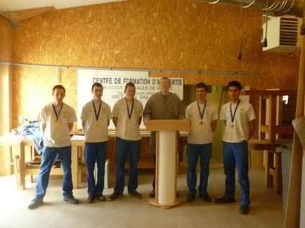 Les médaillés: Mathieu Renaud (or) , Jérémy Barbeau (or), Yoann Rabille (argent), Bastien Fort (bronze), Anthony Blanchard (bronze)