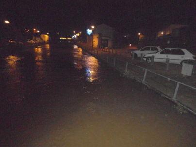 La semaine dernière l'eau du Payré se trouvait à la limite du bord
