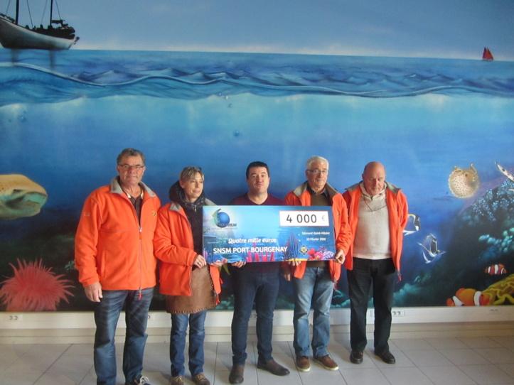 Aquarium de Talmont : 4 000,00 € pour la SNSM