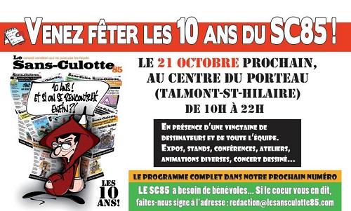 Le Sans Culotte fête son dixième anniversaire au Centre du porteau ce samedi