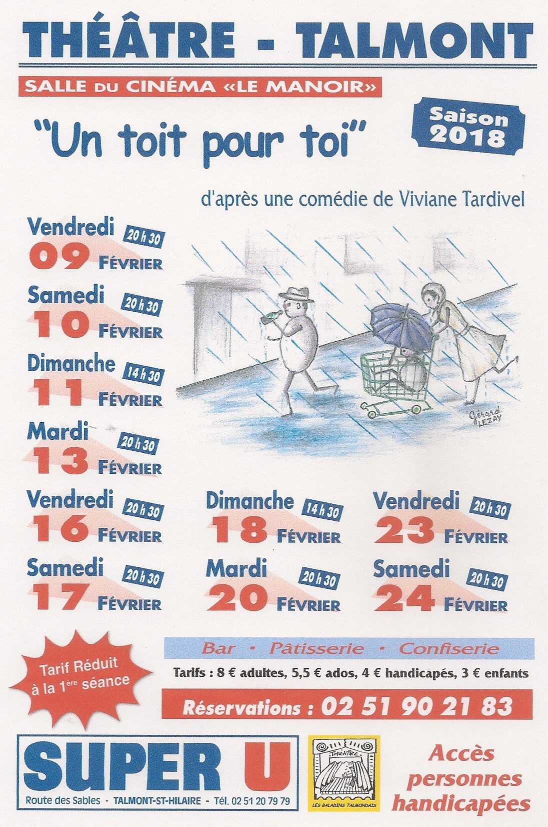Théâtre: «Un toit pour toi» la nouvelle pièce des Baladins Talmondais