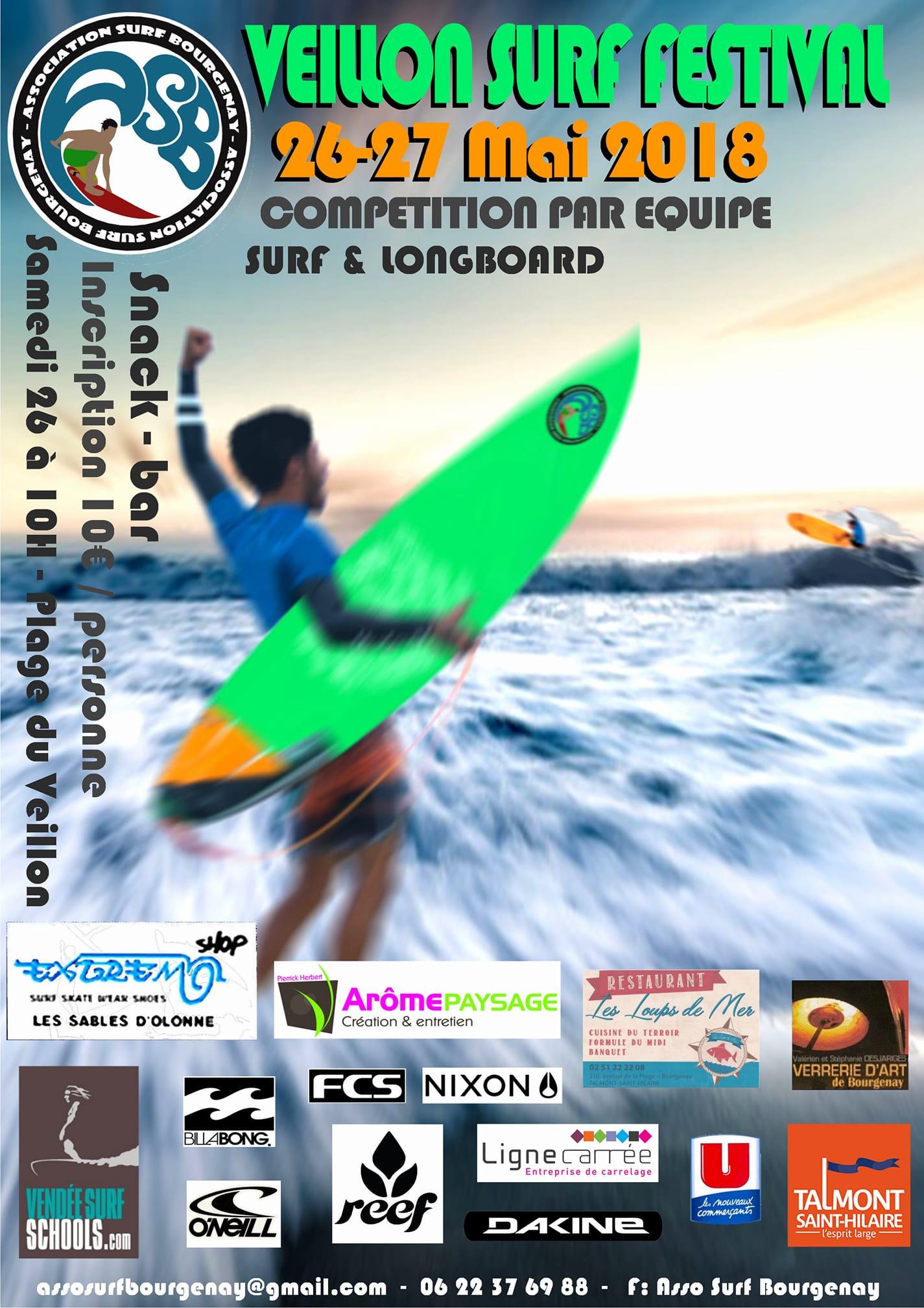 Le Veillon Surf Festival les 26 et 27 mai