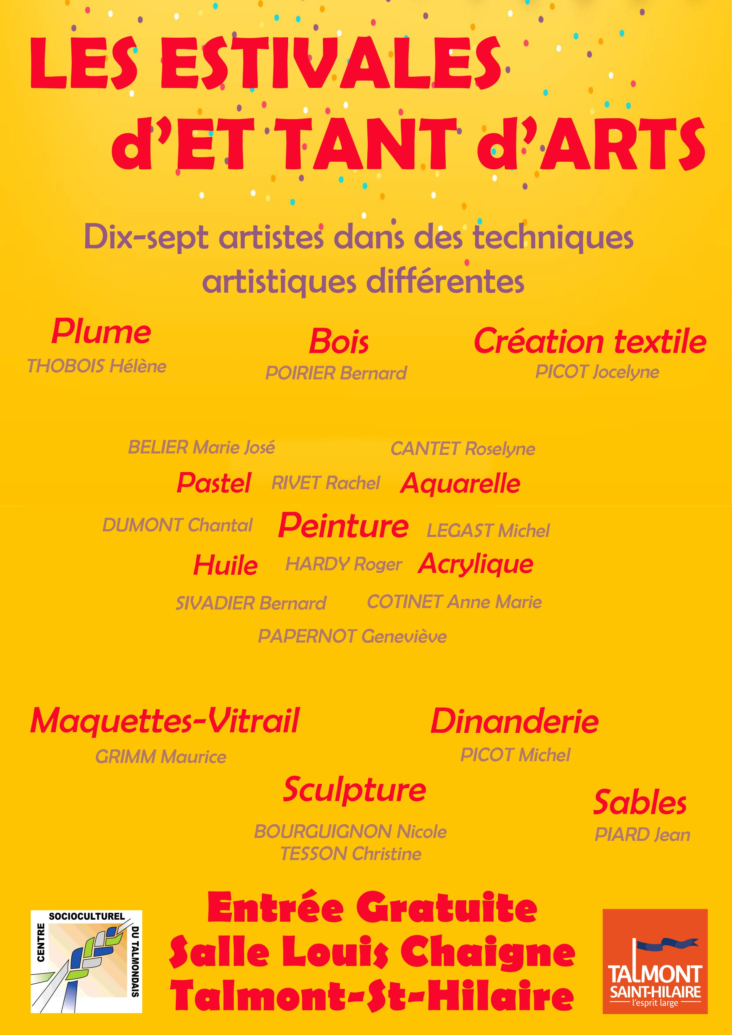 L'exposition estivale d'Et tant d'art a pris place sous les anciennes halles de la commune, salle Louis-Chaigne.