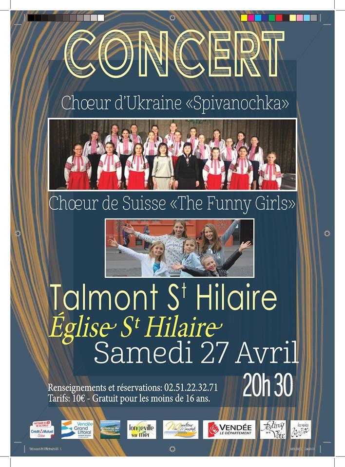 """Les Choeur de Suisses """" The Funny Girls"""" en concert le samedi 27 avril à 20h30"""